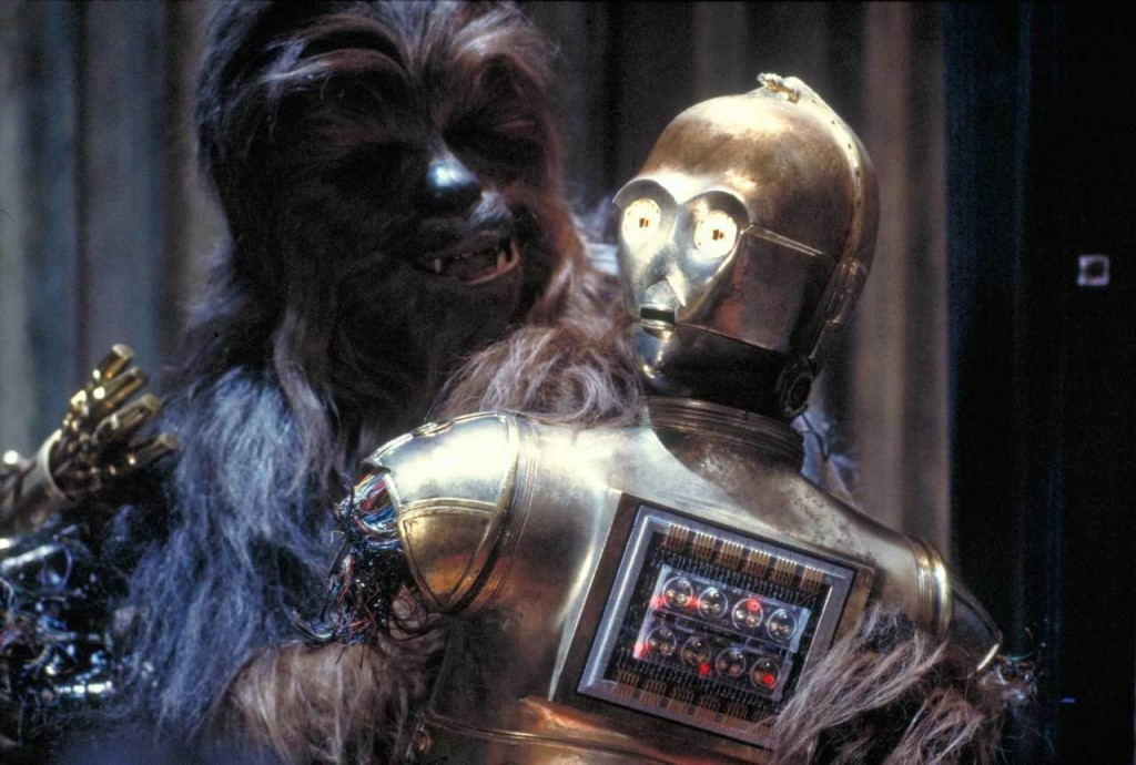 C-3PO and Chewbacca