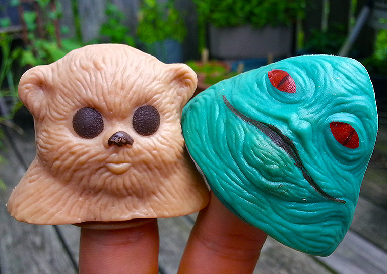 Return of the Jedi candy head...puppets!