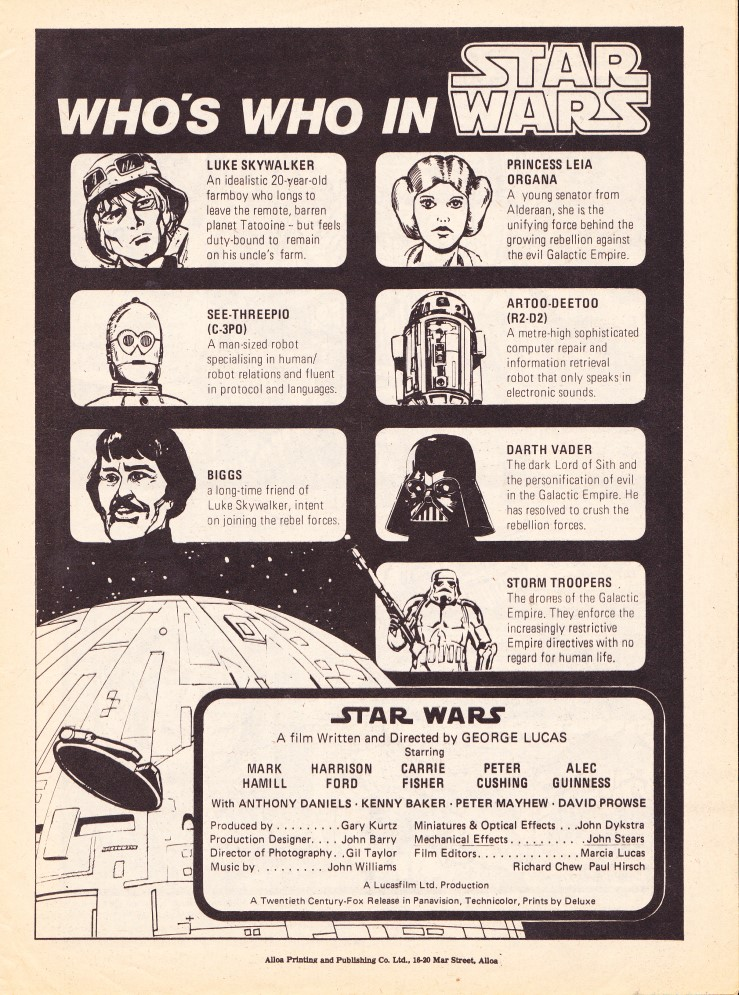 UK Star Wars Weekly - Who's Who