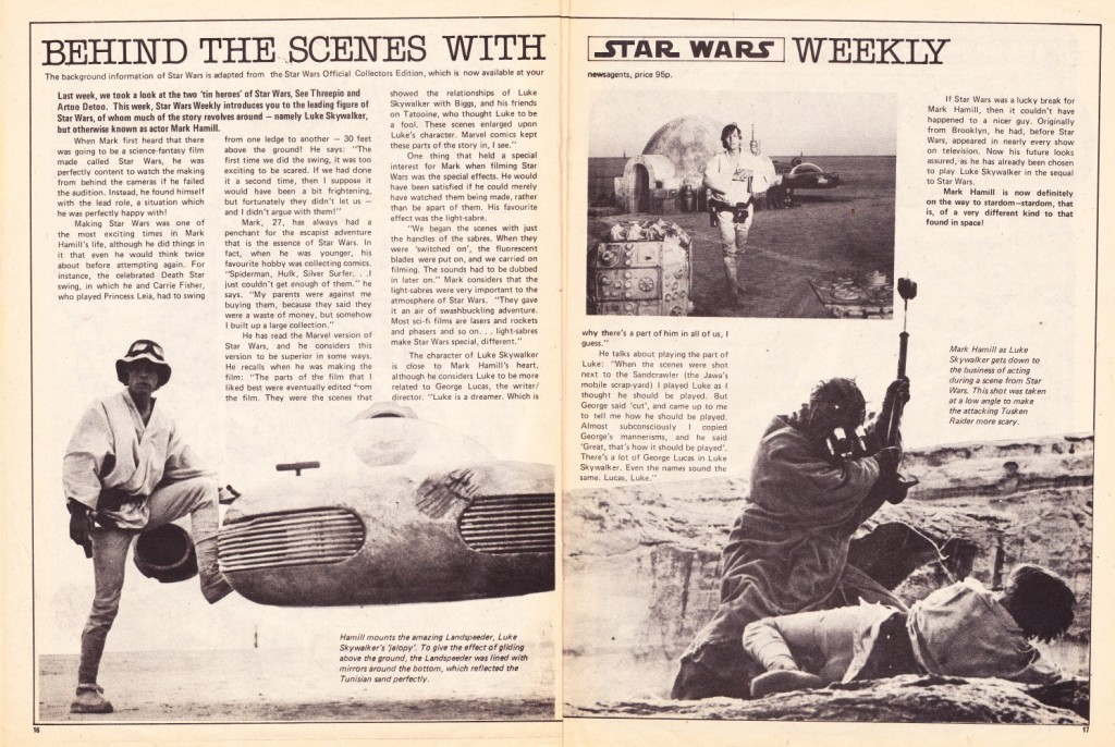 UK Star Wars Weekly - behind the scenes