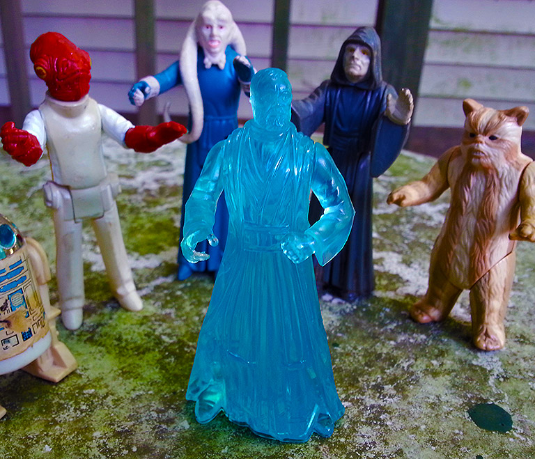 The Spirit of Obi-Wan joins other classic Star Wars toys