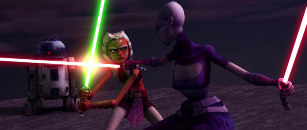 Ahsoka Tano and Asajj Ventress