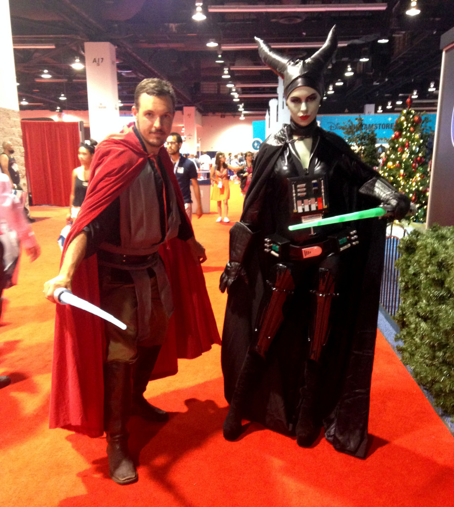 D23 Expo Star Wars and Disney characters combination
