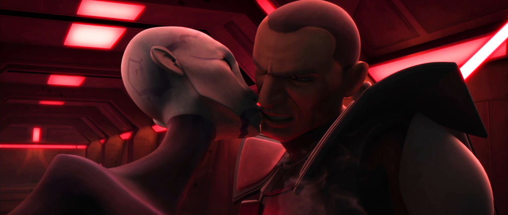 Asajj Ventress and Clone Commander Colt