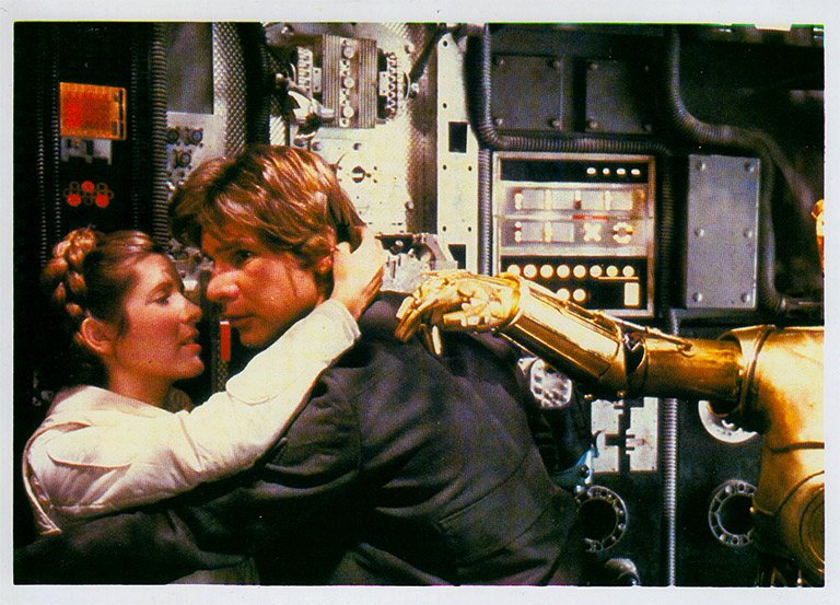 The Empire Strikes Back - Han and Leia photocard