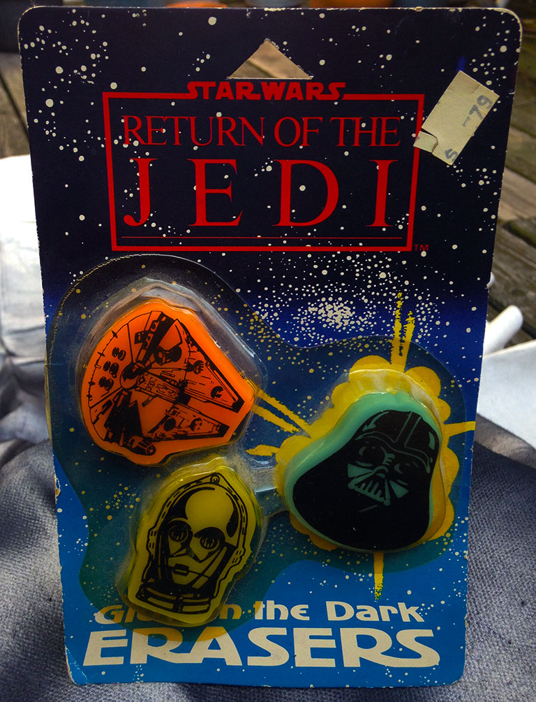 Return of the Jedi Glow in the Dark Erasers