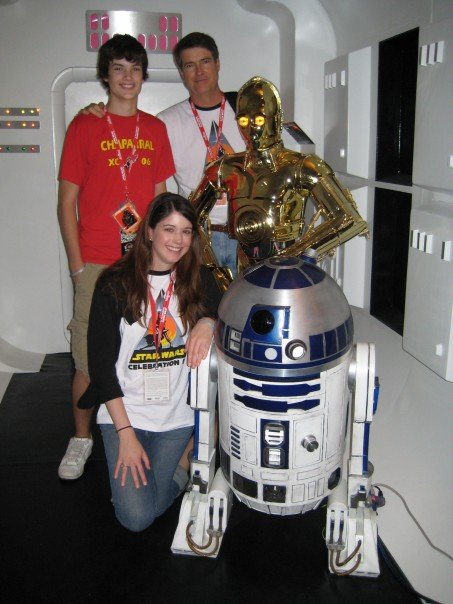 Alexandra Bracken and family at Star Wars Celebration