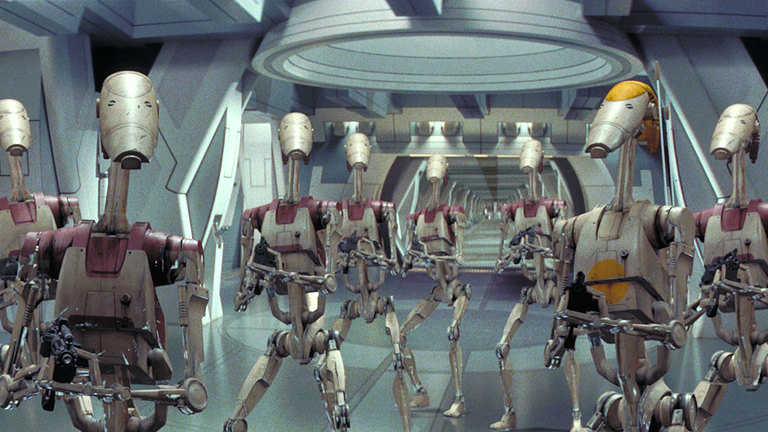 Battle droids in The Phantom Menace