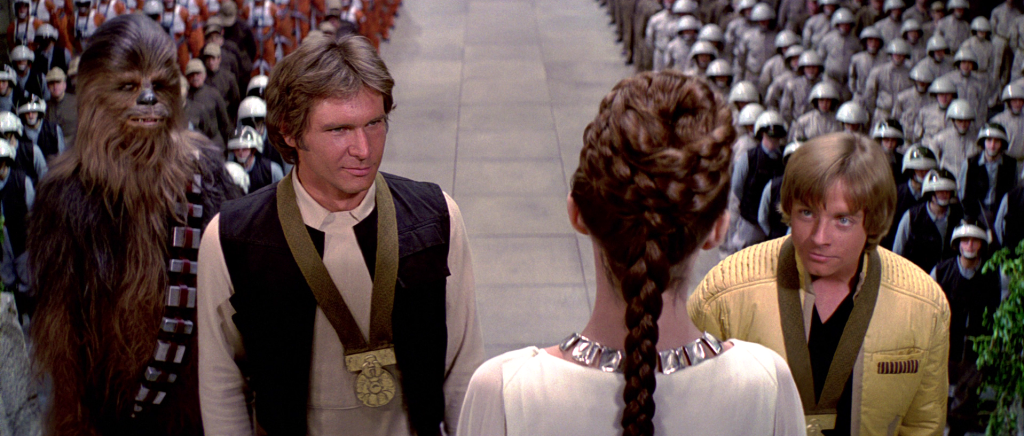 Medal ceremony in Star Wars: A New Hope