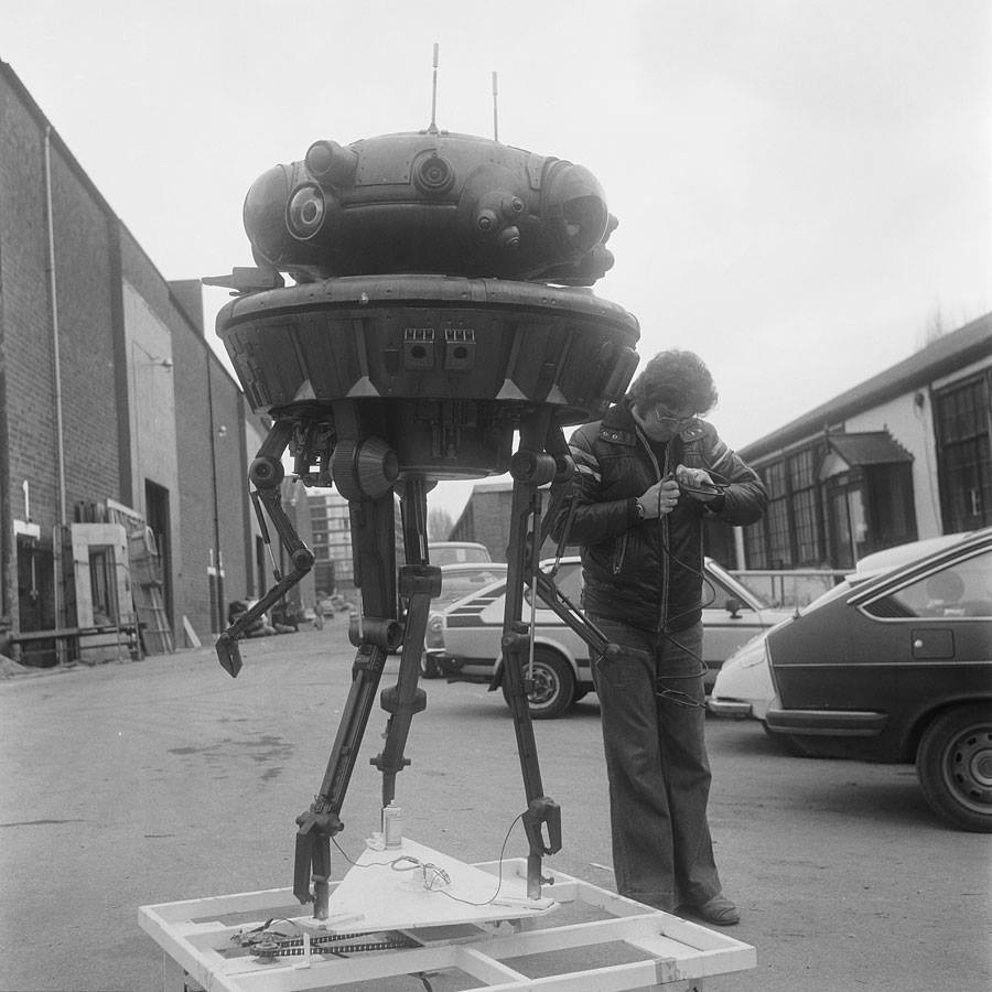 Bill Hargreaves and probe droid from Star Wars: The Empire Strikes Back