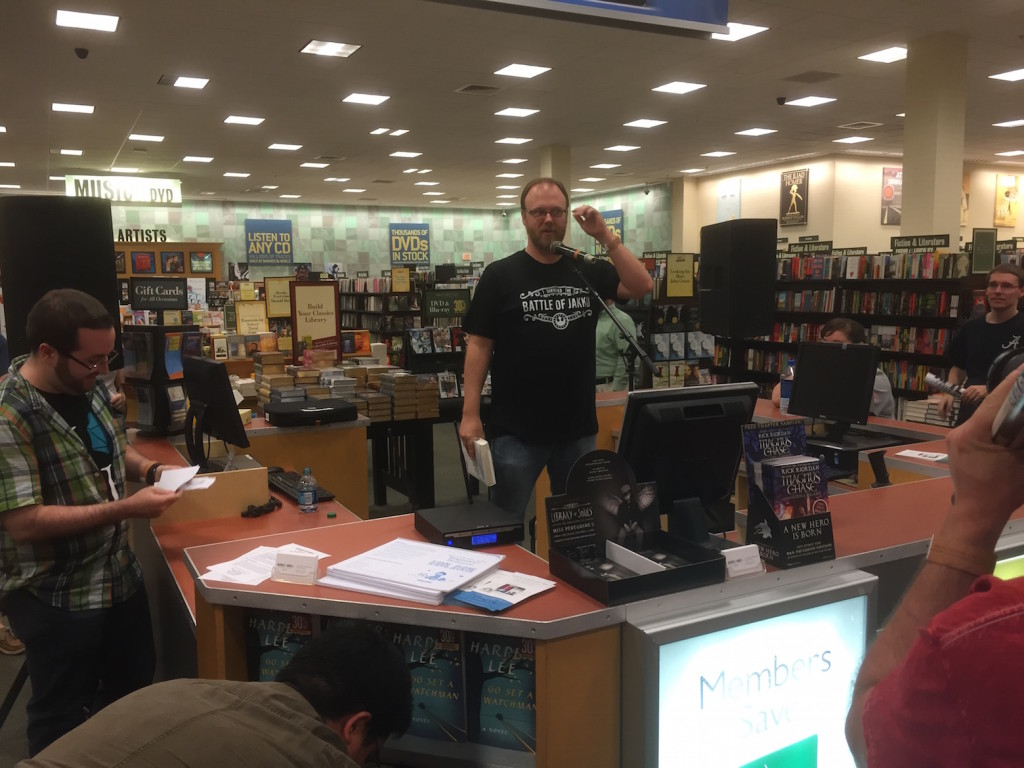 Chuck Wendig at Barnes and Noble
