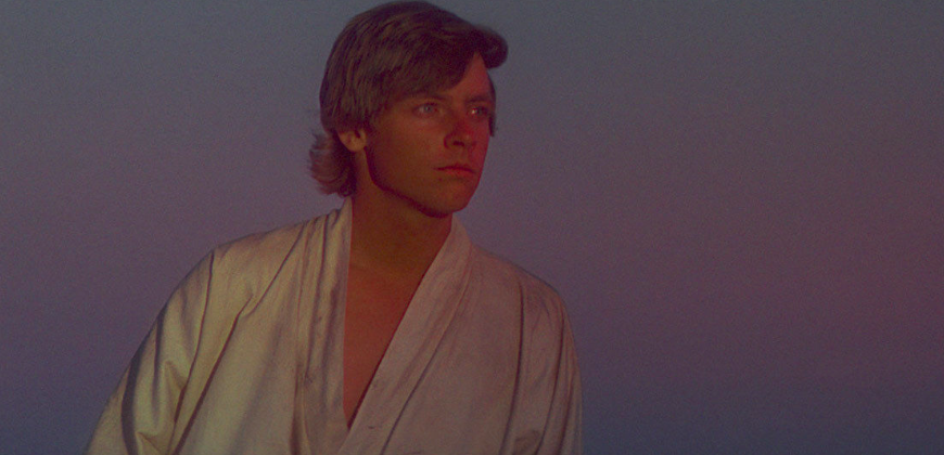 Luke Skywalker in Star Wars: A New Hope