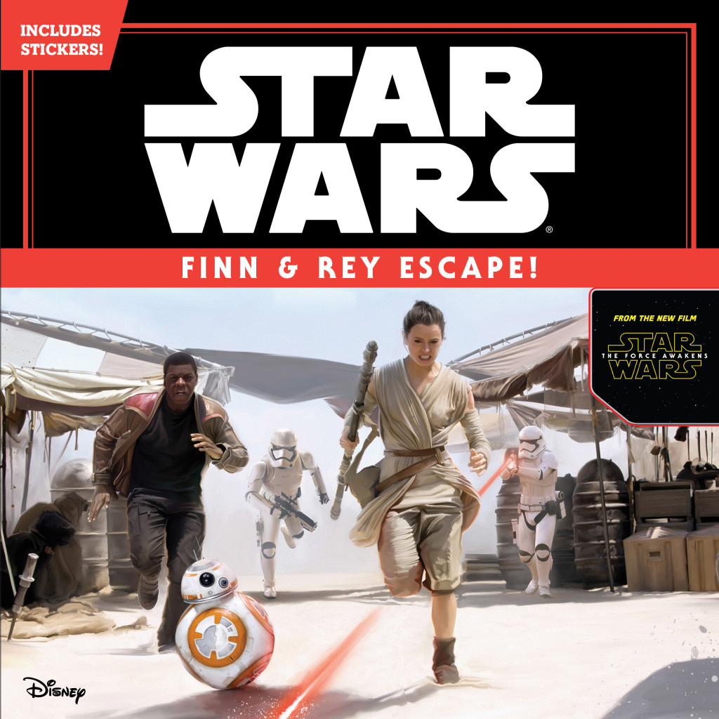 Star Wars: The Force Awakens Finn and Rey Escape