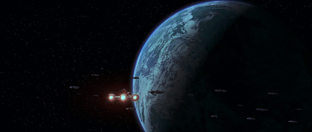 Republic cruiser entering blockade