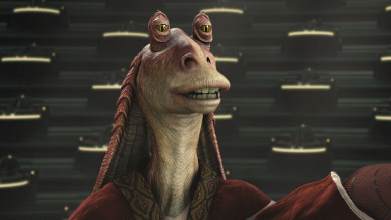 Jar Jar Binks in Star Wars: Attack of the Clones