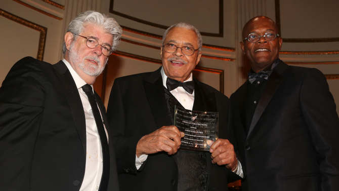 George Lucas, Samuel L. Jackson, James Earl Jones