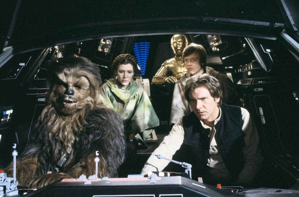 Luke, Han, Leia, and Chewbacca arrive at Endor