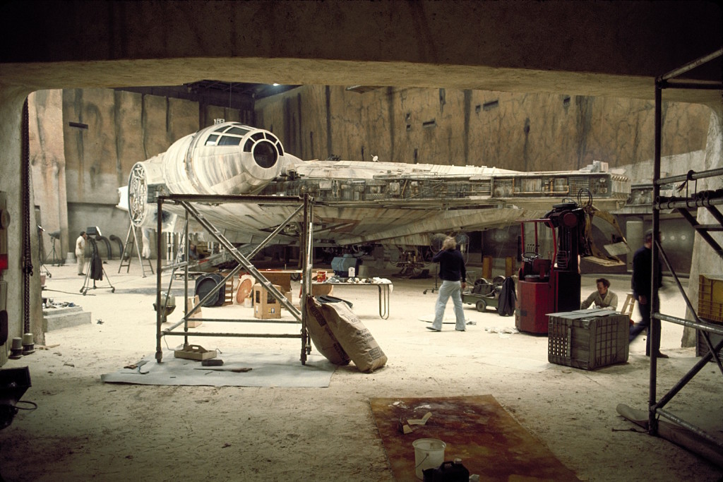 On the set of Star Wars: Millennium Falcon