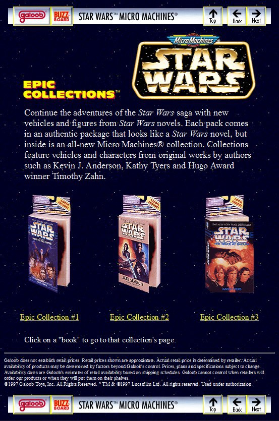 Star Wars Micro Machines Epic Collections