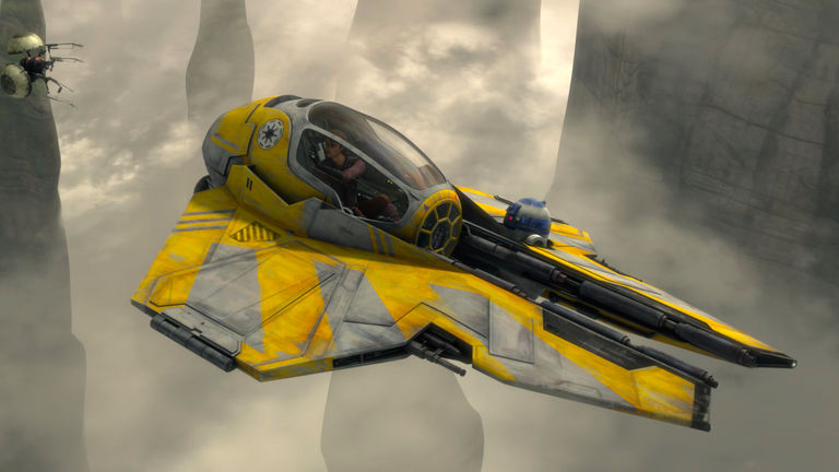 Anakin Skywalker in Jedi starfighter