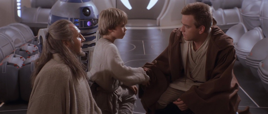 Fateful meeting between Anakin Skywalker and Obi-Wan Kenobi