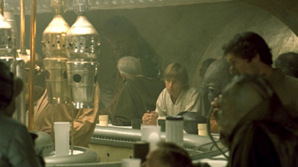 Luke Skywalker in the Mos Eisley cantina