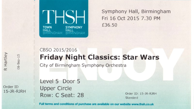CBSO Star Wars tickets