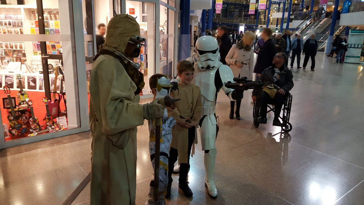 CBSO Star Wars concert - tusken raider and stormtrooper