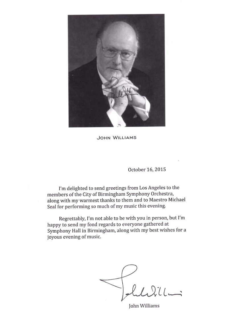 John Williams letter