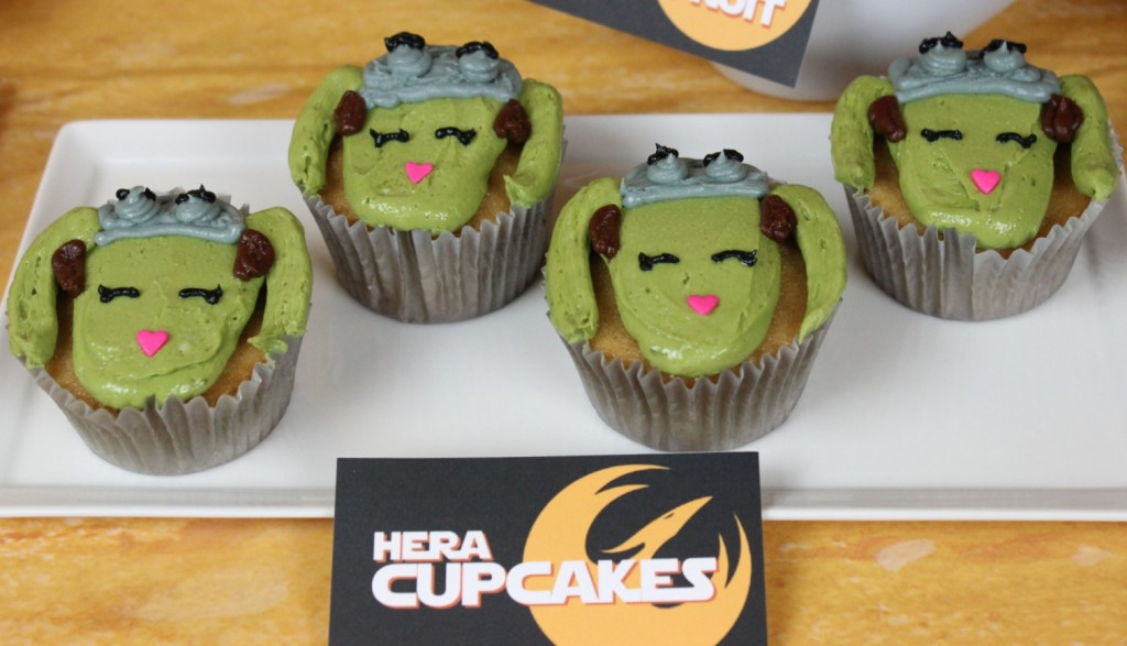 Cupcakes modeled after Hera Syndulla