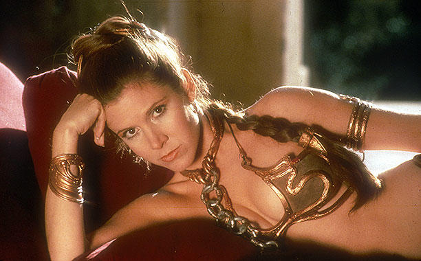 Princess Leia in slave outfit from Return of the Jedi
