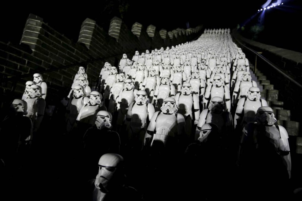 Great Wall and stormtroopers
