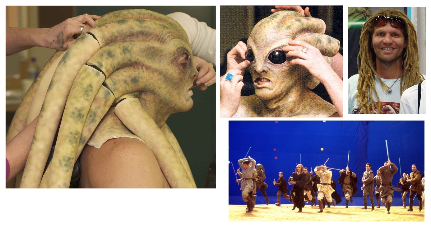 Kit Fisto Makeup and Head piece