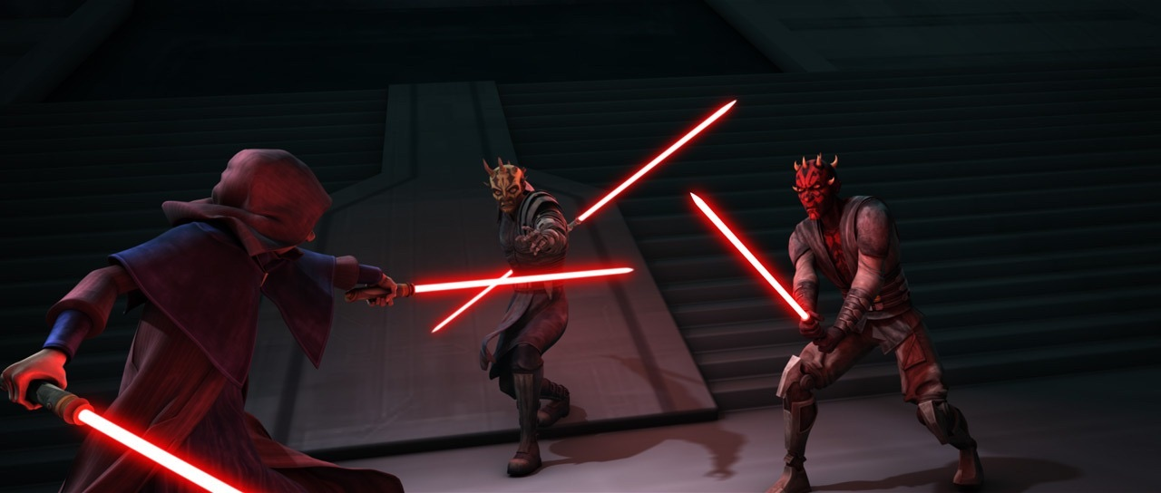 Clone Wars - Sidious and Maul fighting