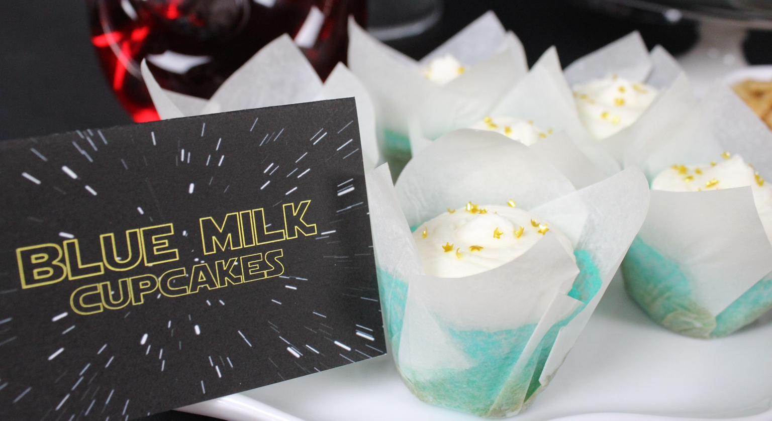 TFA Party - Blue Milk Cupcakes