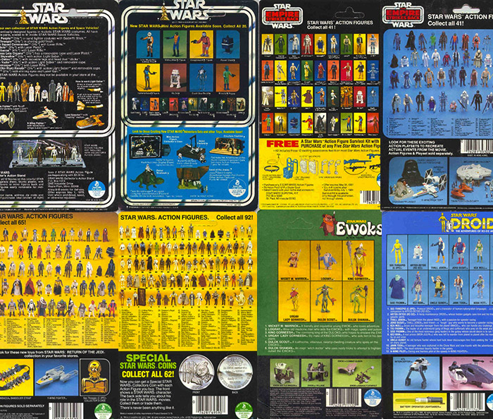 Vintage Kenner Cardbacks - Assorted