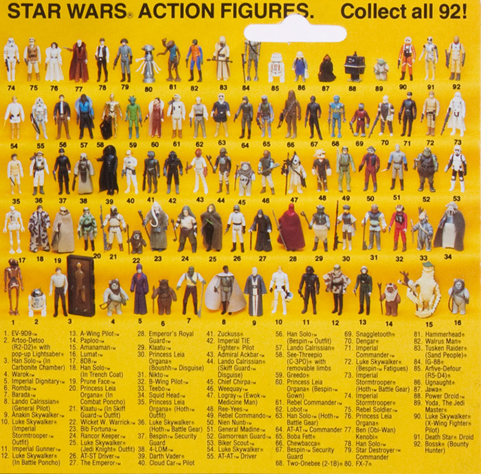 Old Star Wars Toys : Vintage kenner star wars cardbacks collectibles from