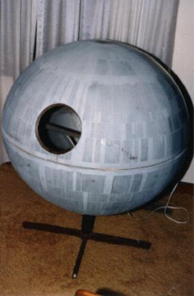 The original Death Star model in the home of Todd Franklin