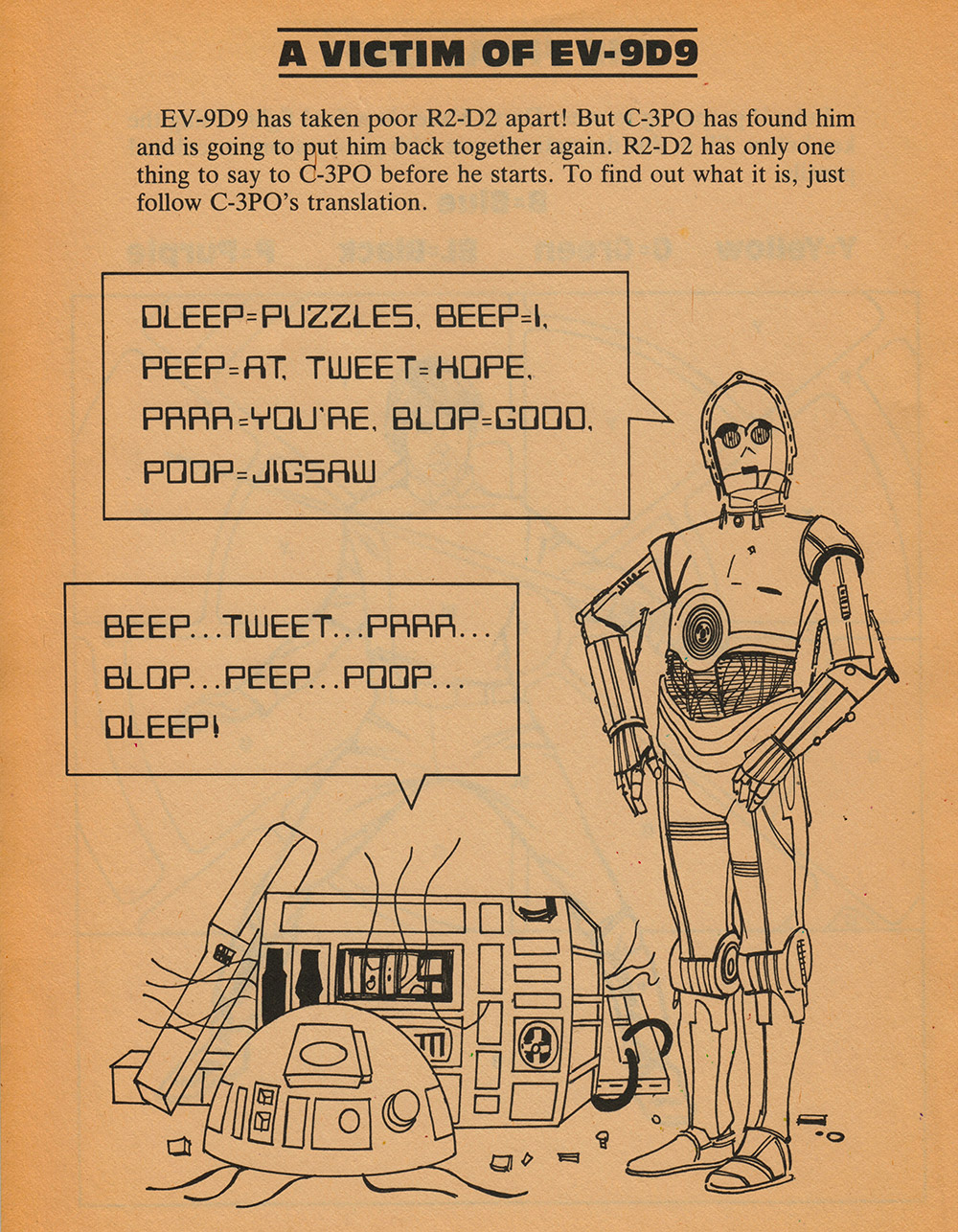 Return of the Jedi - Things to Do and Make A Victim of EV-9D9