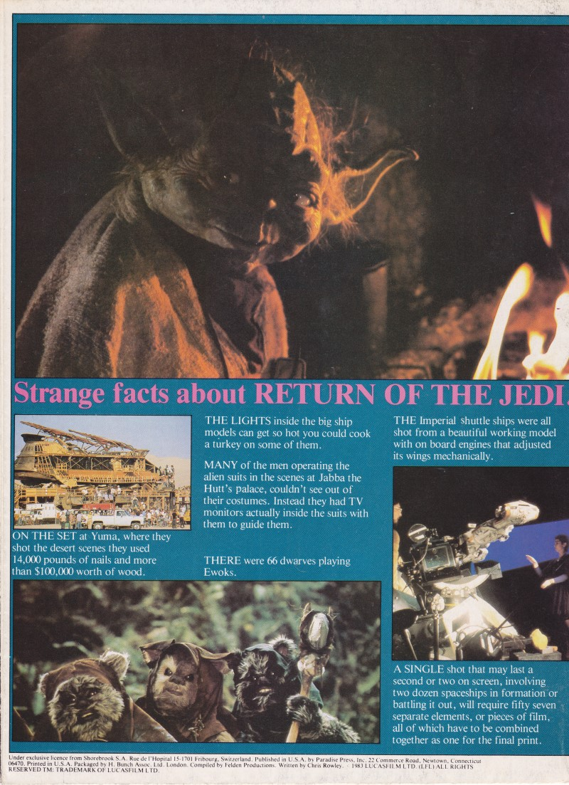 Return of the Jedi - Backcover