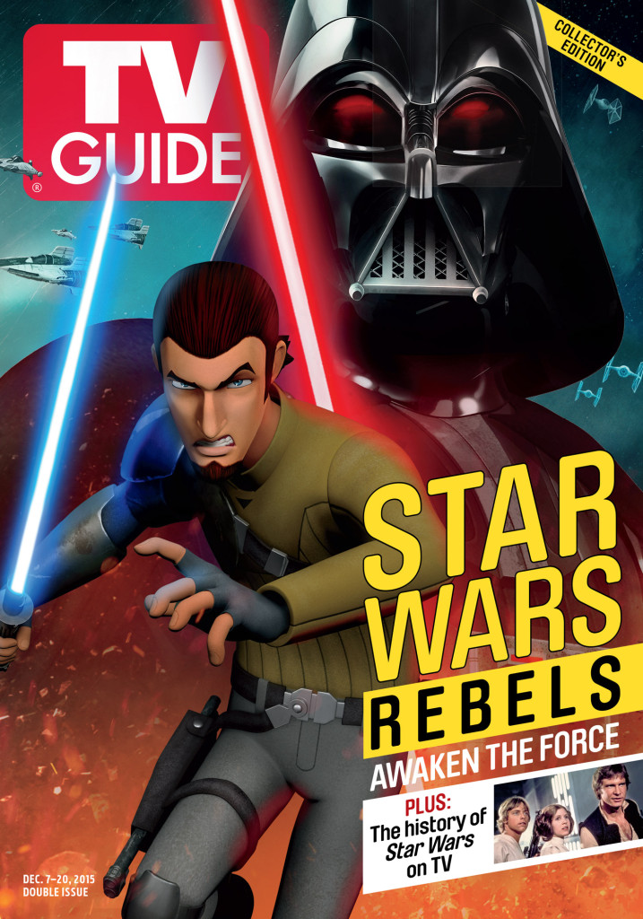 Kanan Jarrus and Darth Vader on the front cover of TV Guide