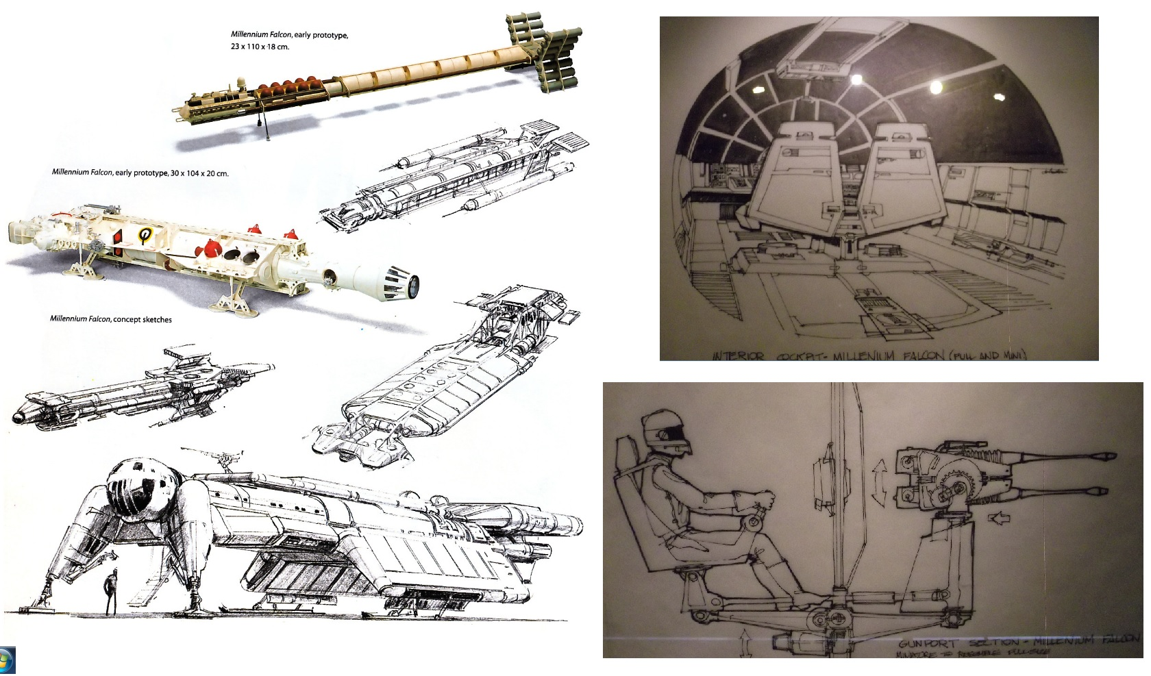 Millennium Falcon Concept Art and Drawings
