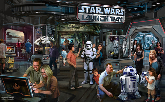 Star Wars Launch Bay Concept Drawings