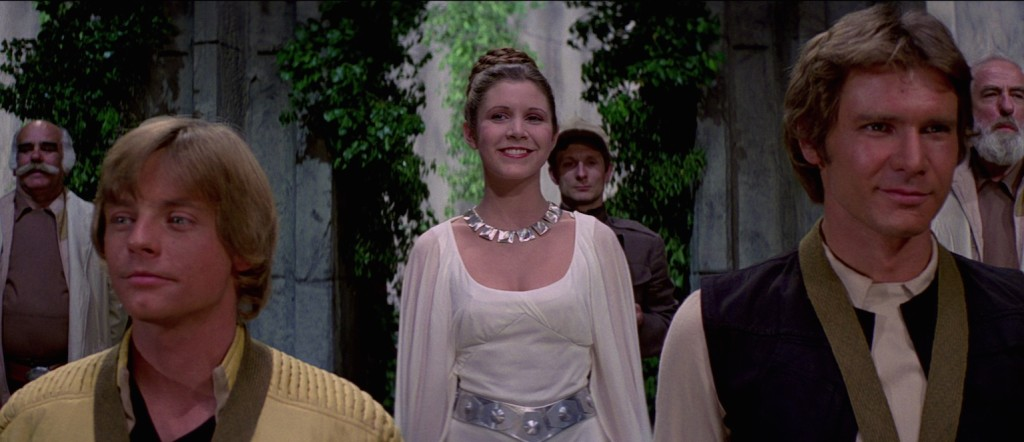 Studying Skywalkers Ep IV - Luke, Leia, Han at awards ceremony