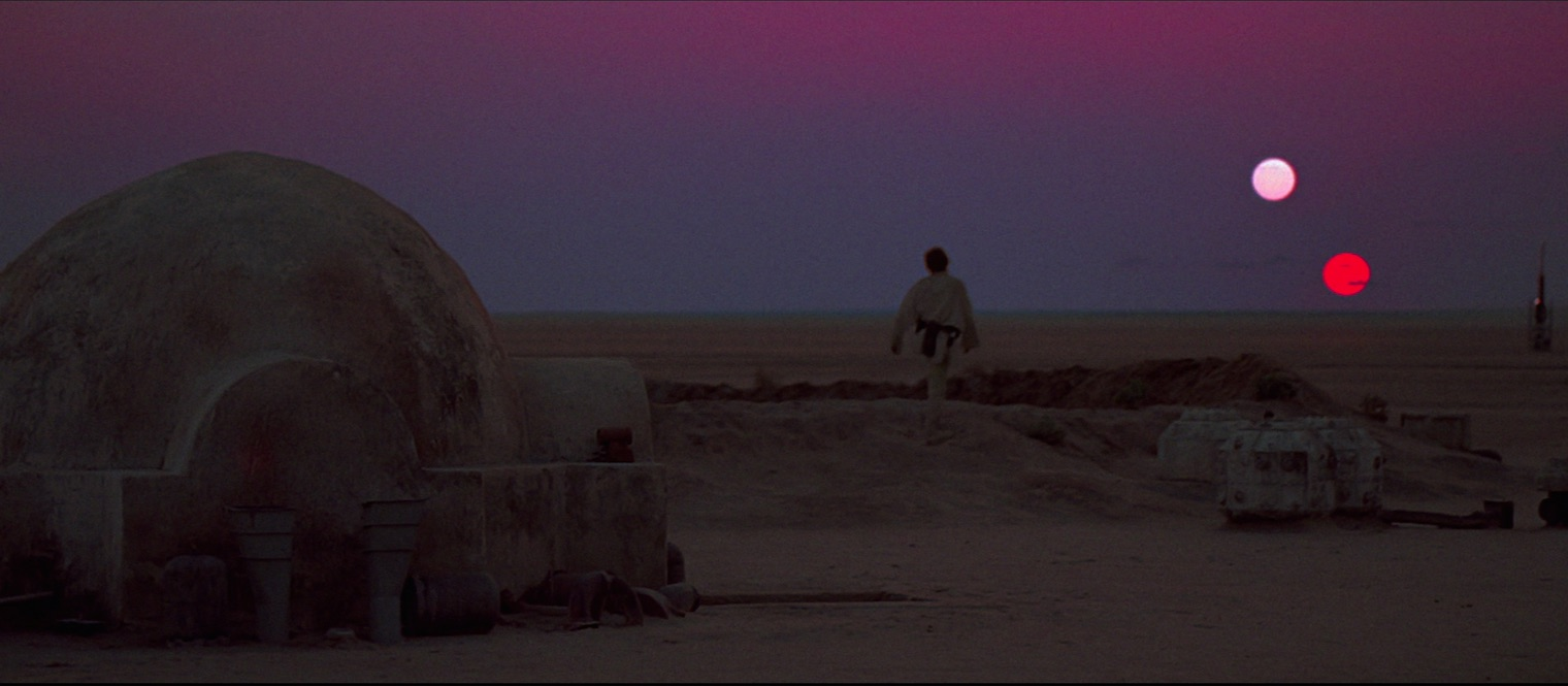 A New Hope - Luke gazing at Tatooine suns