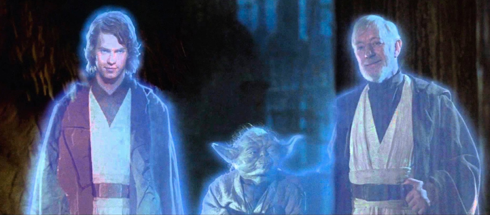 Return of the Jedi - Anakin, Yoda, and Obi-Wan Force Ghosts