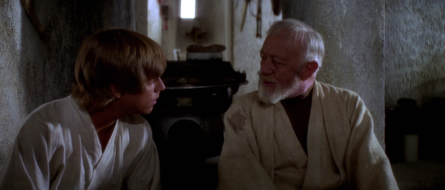 A New Hope - Luke and Ben Kenobi in Ben's house on Tatooine