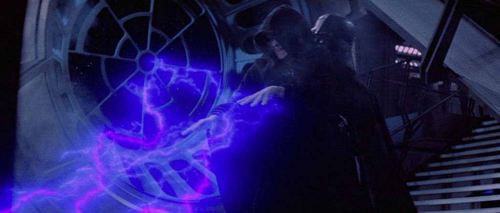Return of the Jedi - Darth Vader destroying Palpatine