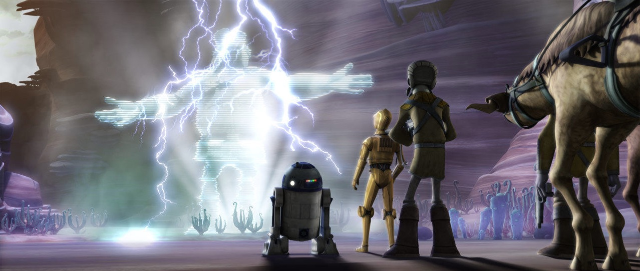 Nomad Droid - Artoo, C-3PO, and Hologram