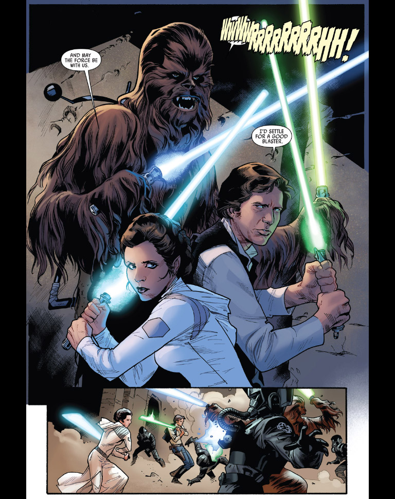 Star Wars #12 - Leia using a lightsaber